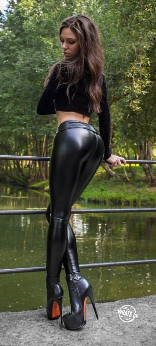 Snug fit faux Leather Pants