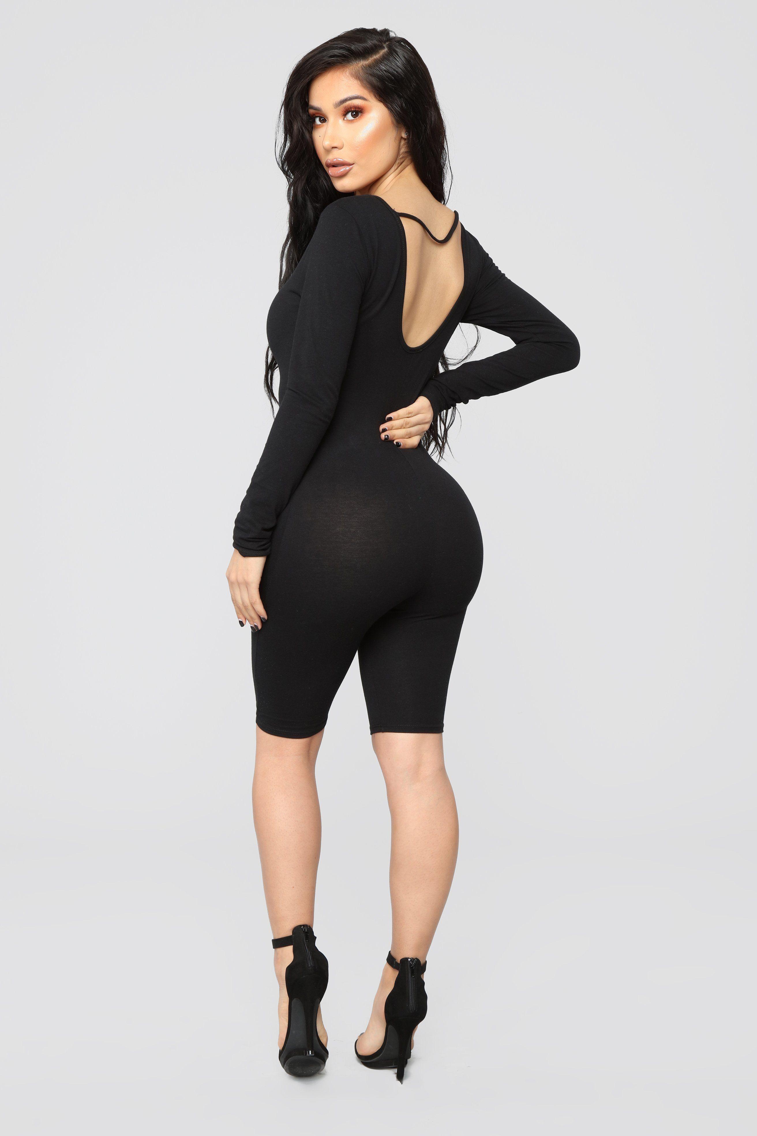 d18df409816 Nellie Biker Short Romper - Black in 2019