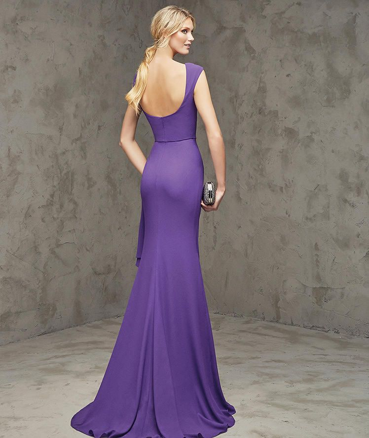 FABIANA - Long cocktail dress with plunging back | Pinterest ...