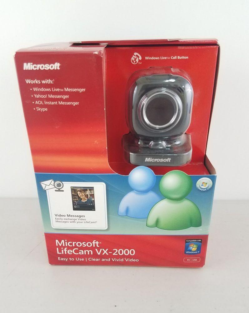 Microsoft LifeCam VX-2000 Webcam Windows Live Yahoo! Messenger AOL Instant Skype #Microsoft