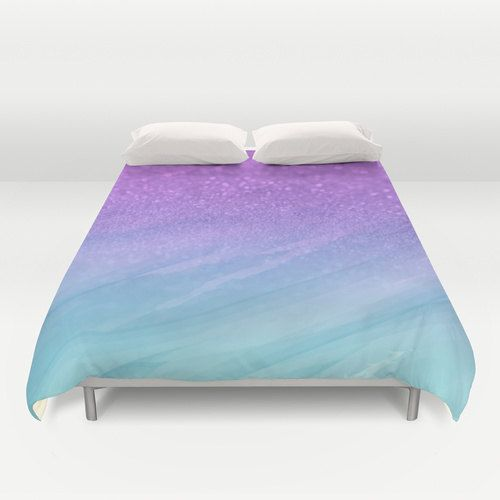 Bed Ombre Duvet Bedding Sets, Teal And Purple Ombre Bedding