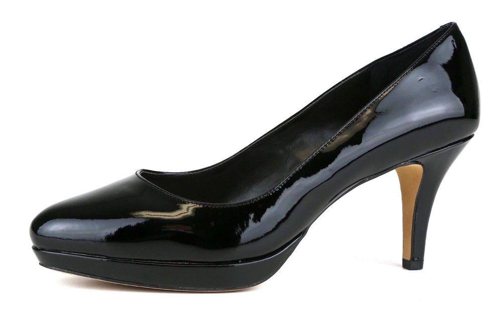 dd941648ce5 Vince Camuto Desti Patent Leather Platform Pump Black Women Sz 8.5 M 1031   VinceCamuto  Classics
