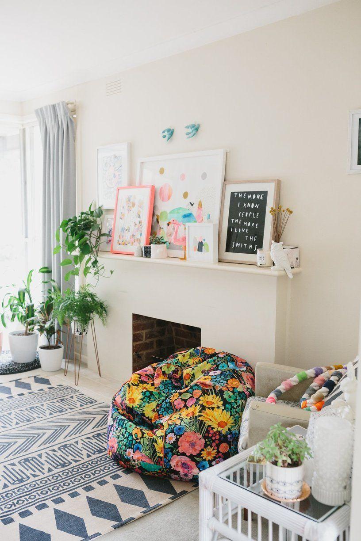 laura blythman's melbourne neon dream home | cheminées, décoration
