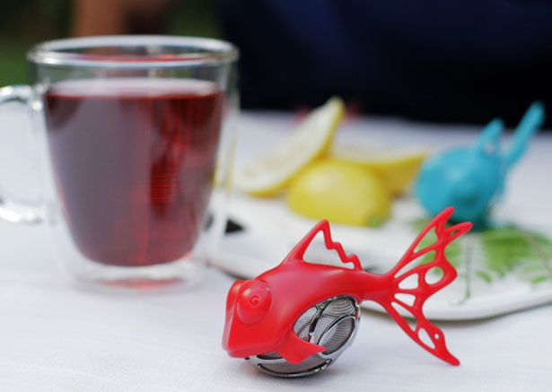 Dunkfish Tea Infuser Concept by Grant Bell
