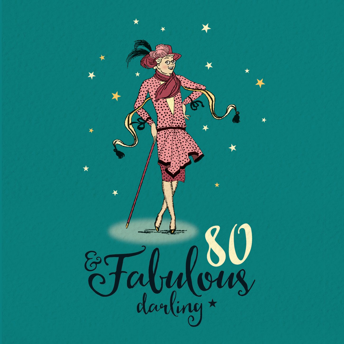 80th birthday card for her fabulous 80 in 2020 80th