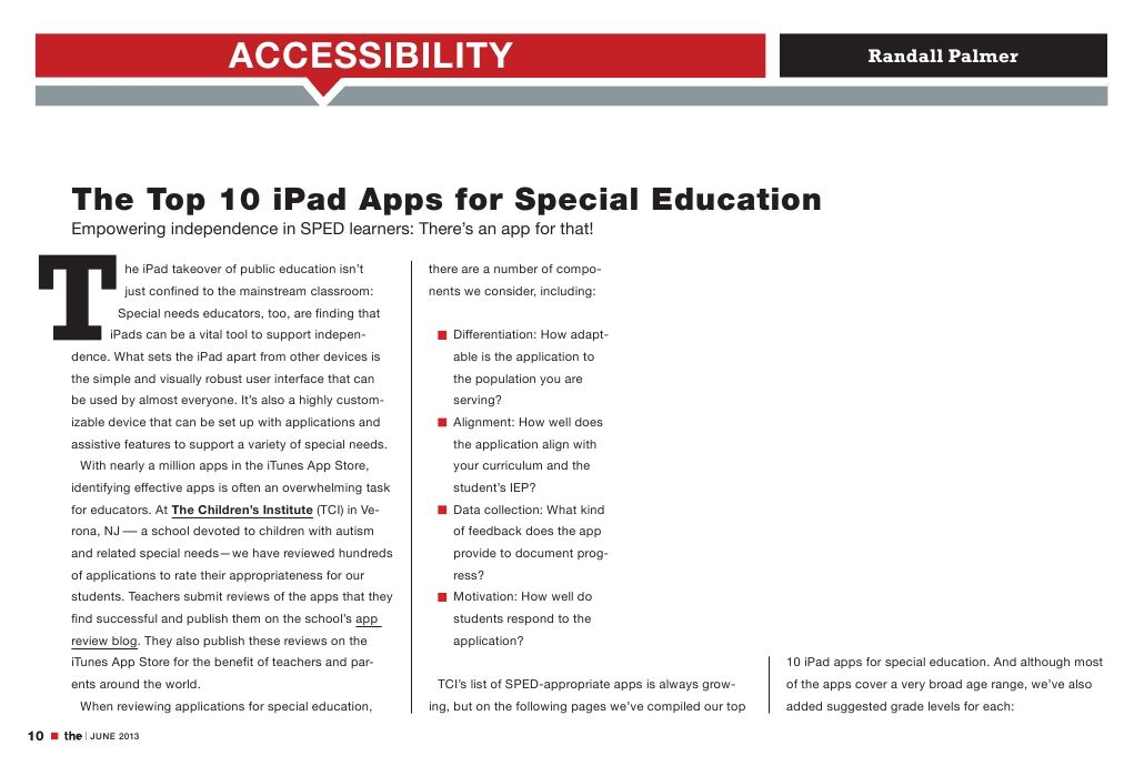 10 iPad Apps for Special Education via Matty Chuah
