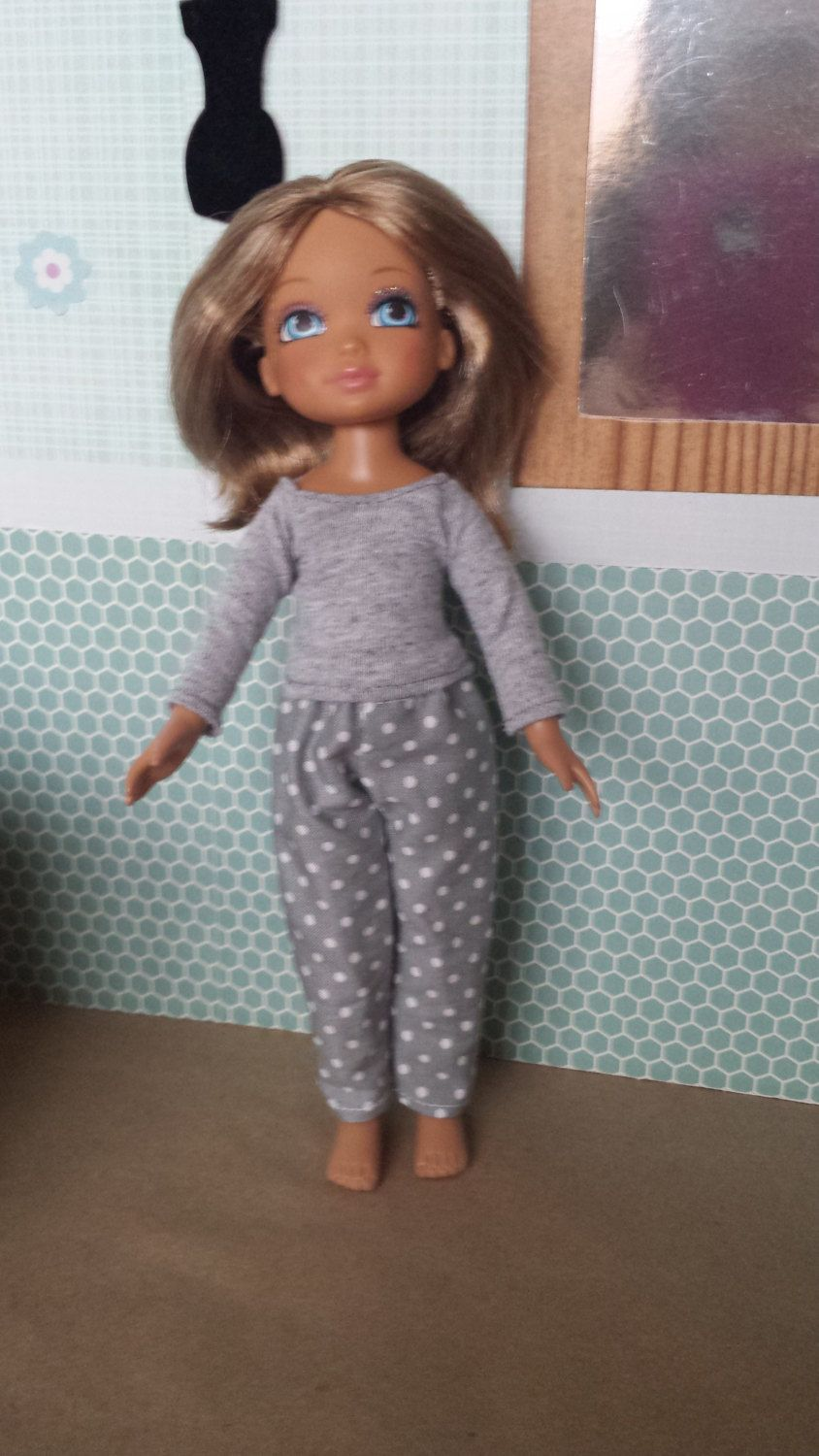 Lovely grey pants outfit for your favorite ever best friends doll