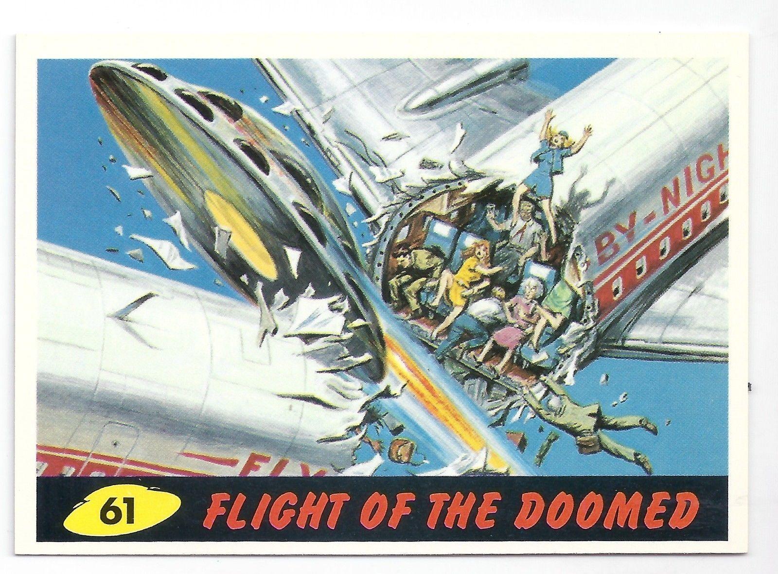 1994 topps mars attacks base card 61 flight of the
