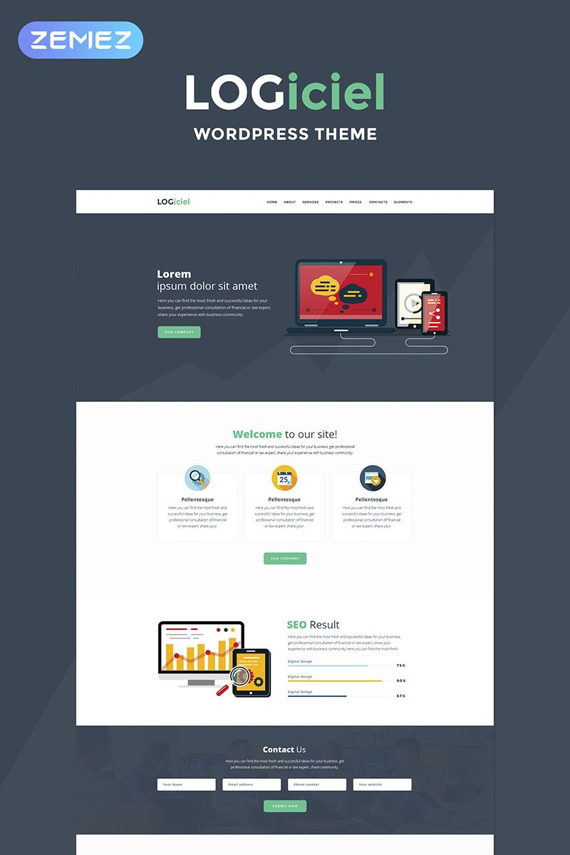Logiciel Software Company Wordpress Theme Wordpress Themes