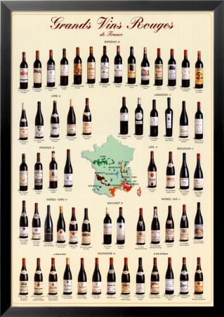 Grands vins rouges de France Posters sur AllPosters.fr