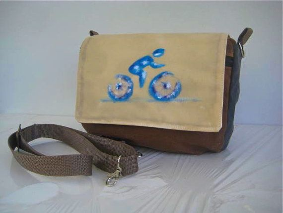 Bike handlebar rack Bag/Pouch/Messenger Waxed by thedragonflypath
