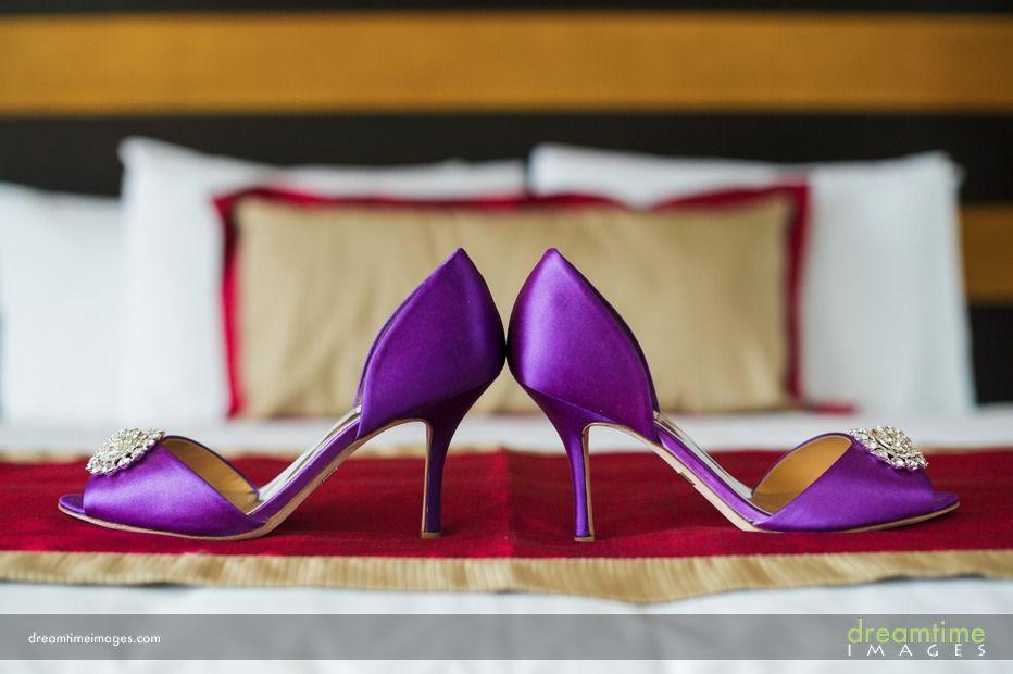 Purple Wedding Shoes In Huatulco Purple Wedding Shoes Bride
