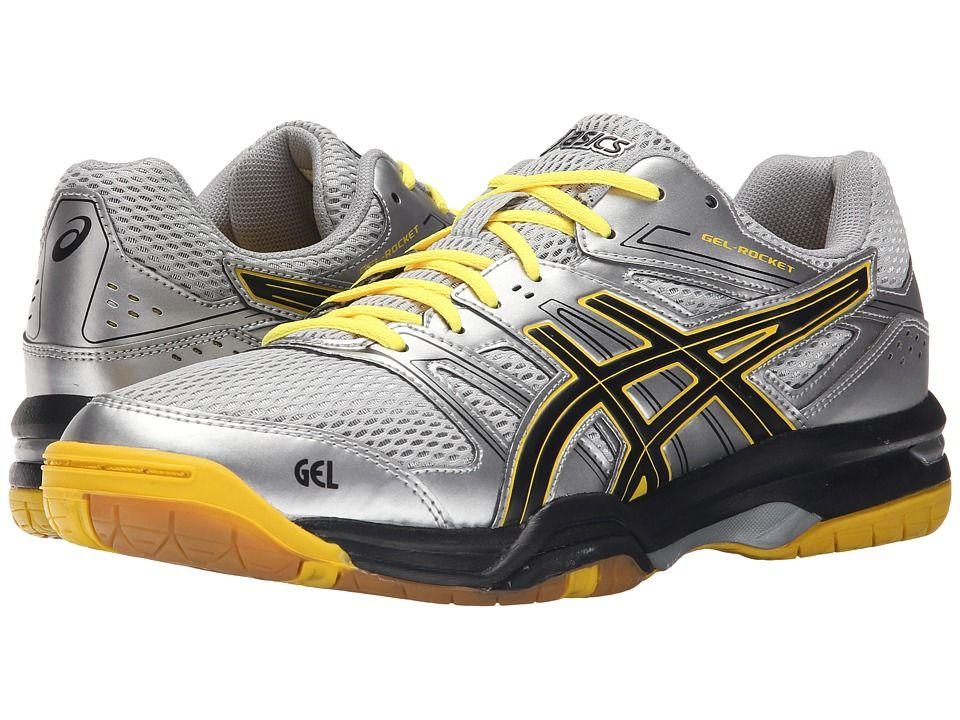 d1fefa6a3915 ASICS GEL-Rocket(r) 7 Men s Volleyball Shoes Silver Onyx Neon Yellow ...