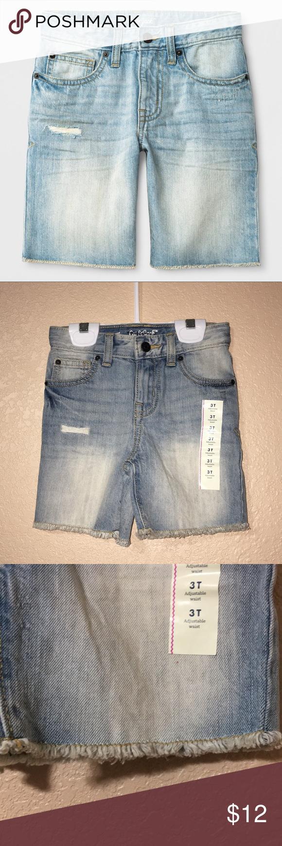 Cat /& Jack Light Denim Toddler Shorts Bundle