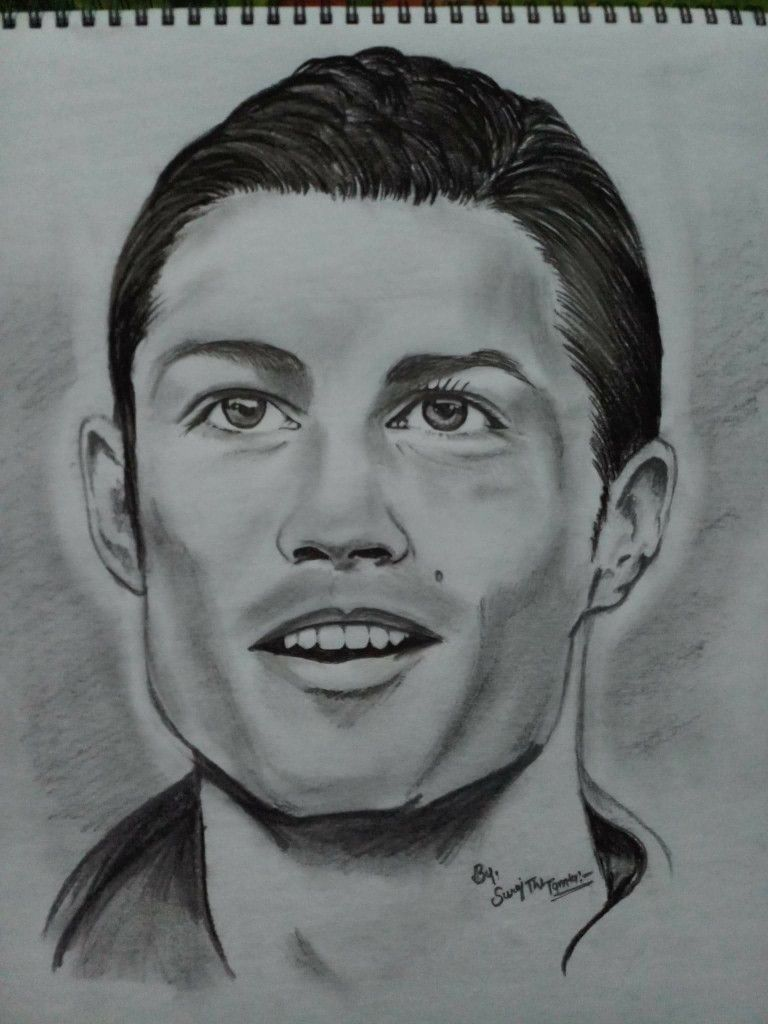 Ronaldo by suraj the tamta pencil sketch sketches ronaldo