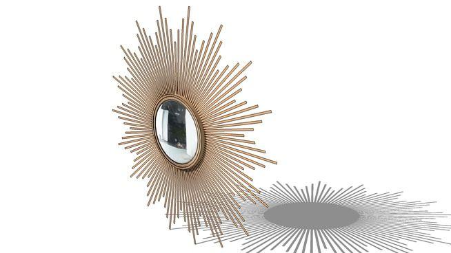 miroir soleil maisons du monde ref 126080 3d warehouse. Black Bedroom Furniture Sets. Home Design Ideas