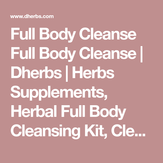 D herbs cleansing system