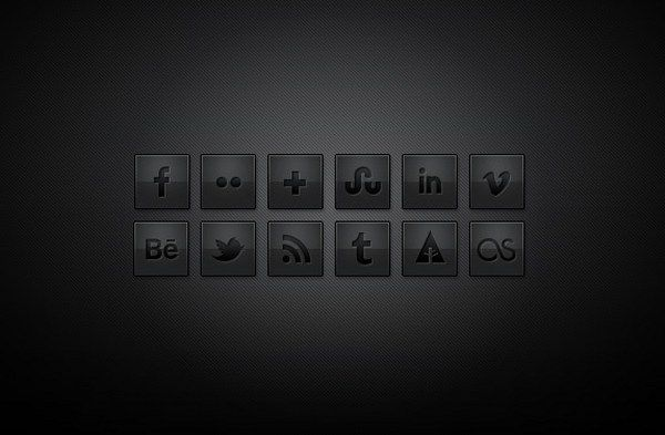 Free Dark Social Media Icons Flat Social Icons