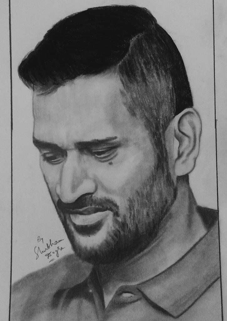 Image Result For Mahendra Singh Dhoni Sketch | Mahendra Singh Dhoni | Pinterest | Sketches ...