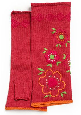 """""""Roslagen"""" fingerless cotton gloves – Roslagen – GUDRUN SJÖDÉN – Webshop, mail order and boutiques   Colorful clothes and home textiles in natural materials."""