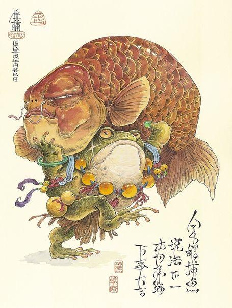 Pin By Gabbi On Art Japanese Inspired Art Frog Art Japanese Art