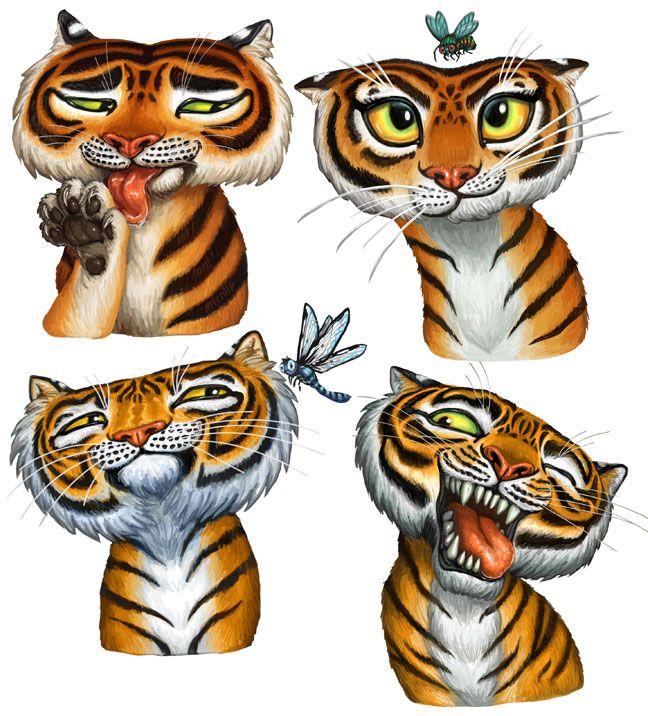 Tiger Stripes Spot Illustrations by feliciacano on deviantART