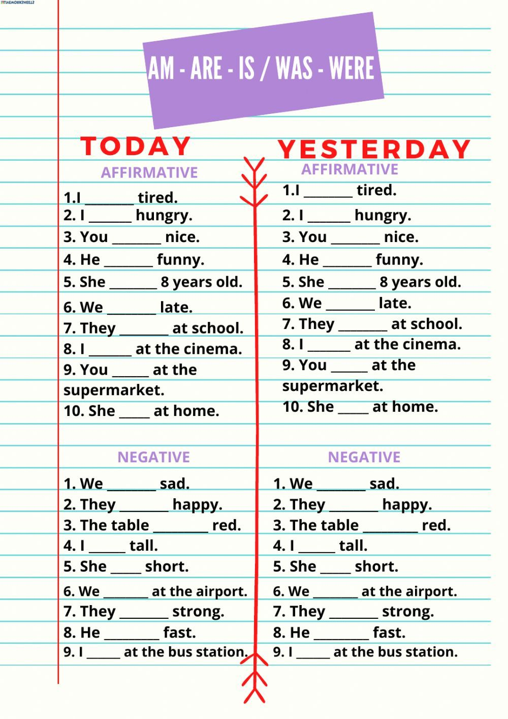 Verb To Be Am Are Is Was Were Interactive Worksheet In 2020 English Grammar For Kids Learn English Learn English Grammar