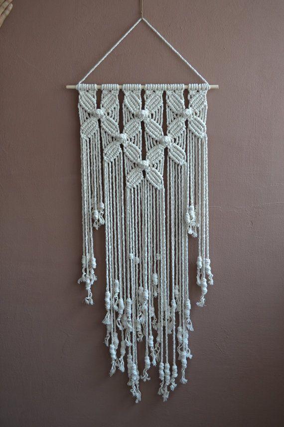 Macrame moderno decorativo hogar del colgante de pared - Colgantes de macrame ...