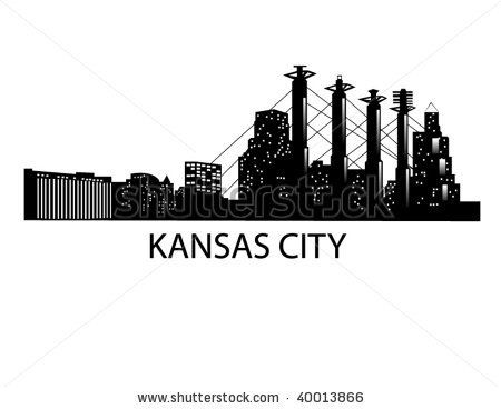Kc Skyline Silhouette With 26 2 Under It Kansas City Skyline Kansas City Art Kansas City