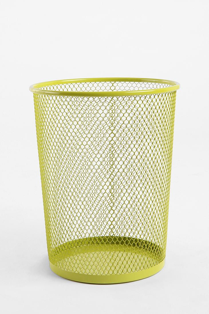 Wire Trashcan Painted Trash Cans Home Decor Sale Room Accessories