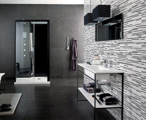 Black Bathroom Entrancing Decorating Inspiration