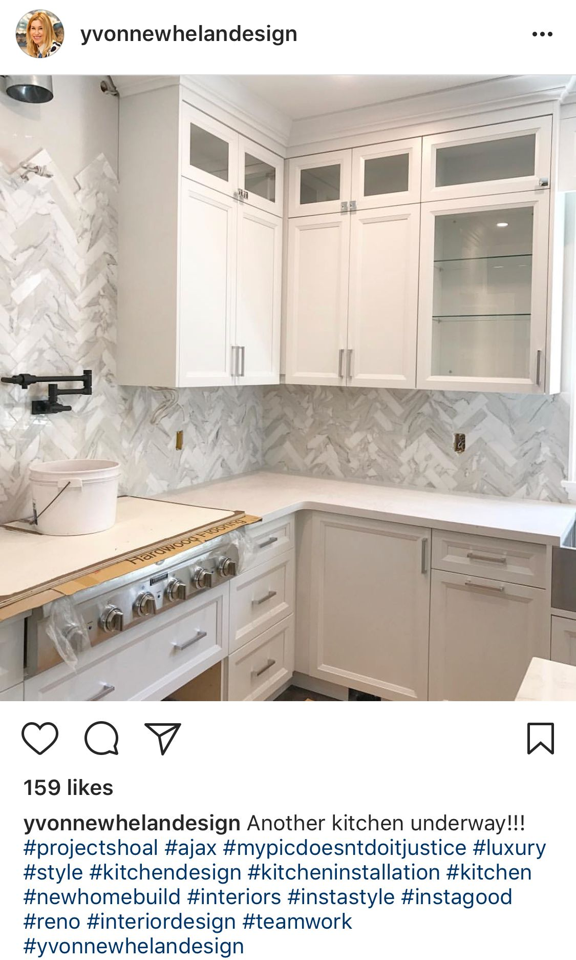 I like using the marble tile to create an overall marble