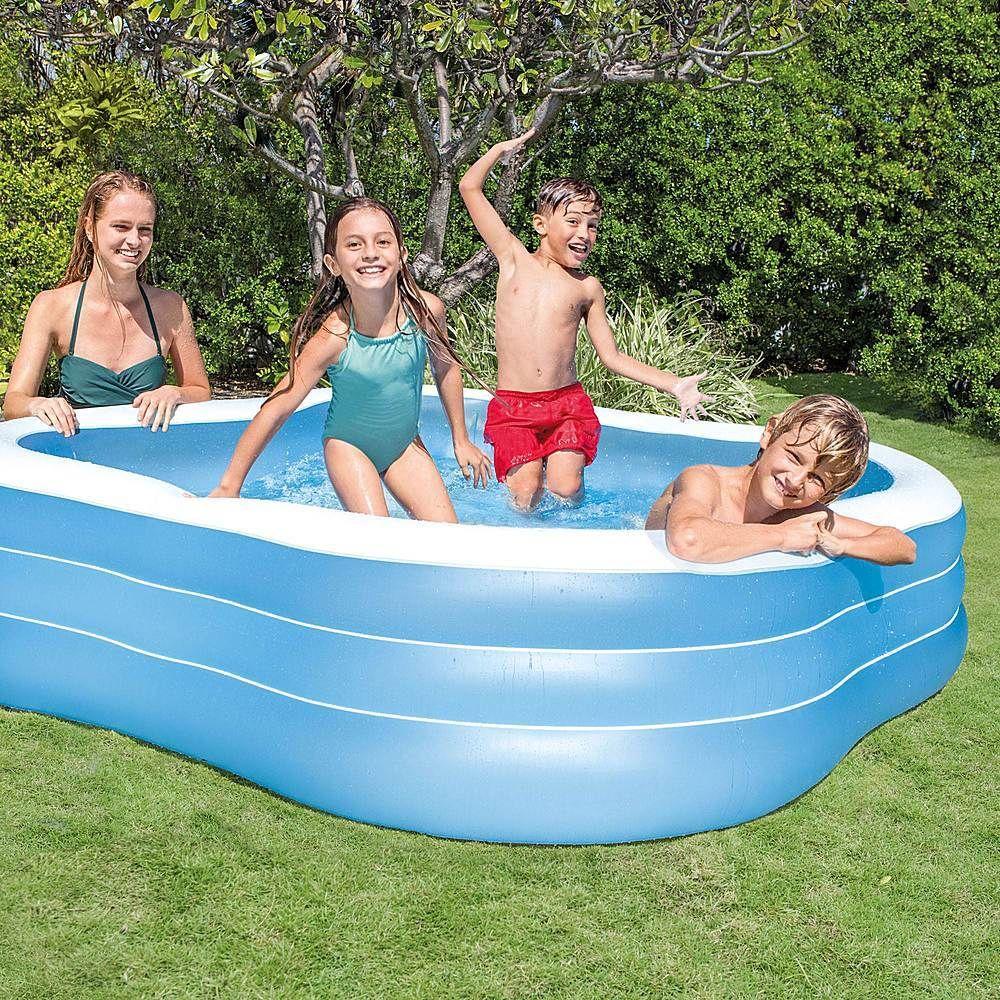 Intex Swim Center Inflatable Play Kids Backyard Swimming Pool 57495ep Best Buy In 2021 Inflatable Pool Family Inflatable Pool Swimming Pools Backyard