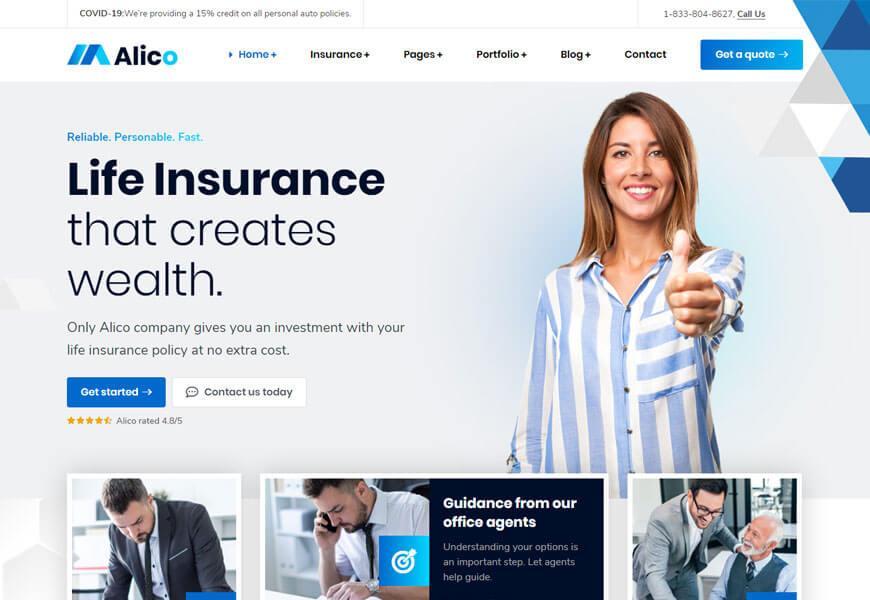 Pin On Best Insurance Agency Wordpress Theme