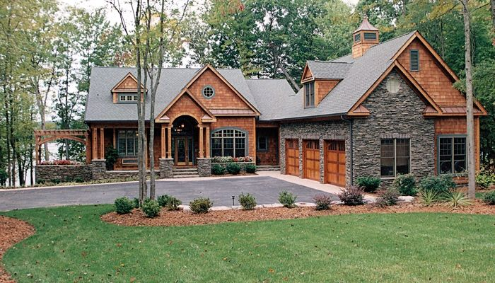 Charmant House Plans | Designer Favorites | Living Concepts House Plans   Love The  Cedar Shake, The Stone, The Details. Too Much Square Footage.