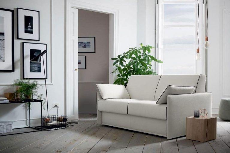 Idee salvaspazio, divano angolare per piccoli spazi nel