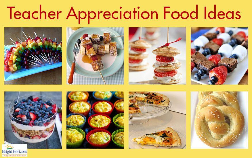 Classroom Breakfast Ideas ~ Teacher appreciation food ideas recipes