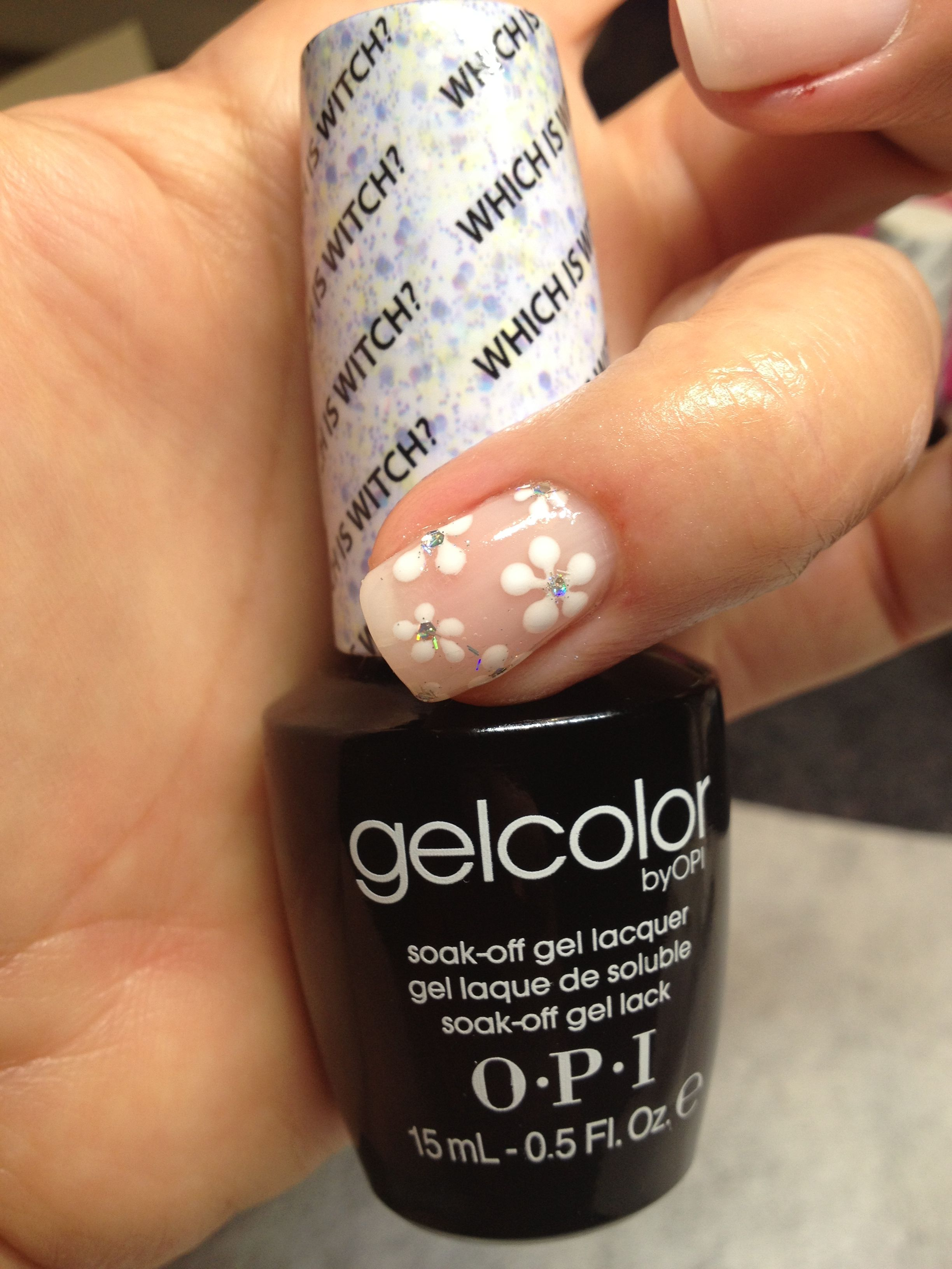 Gelcolor by opi nail art using alpine snow and which is