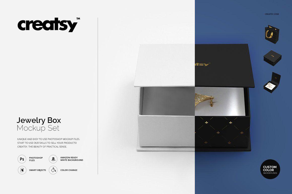Download Jewelry Box Mockup Set Box Mockup Mockup Design Mockup Template Free
