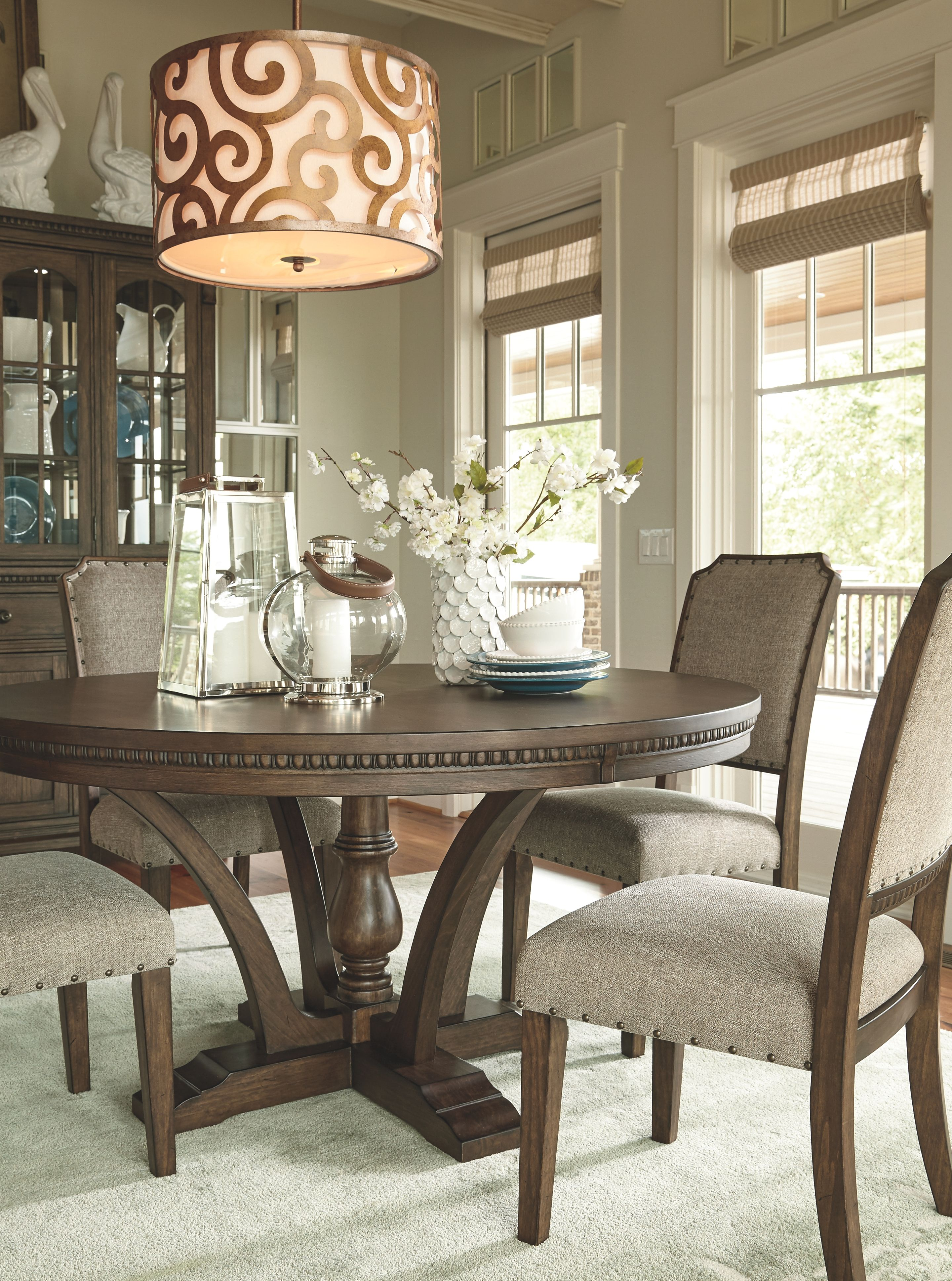 Larrenton Table And Base Round Dining Room Table Dining Room Decor Dining Room Cozy