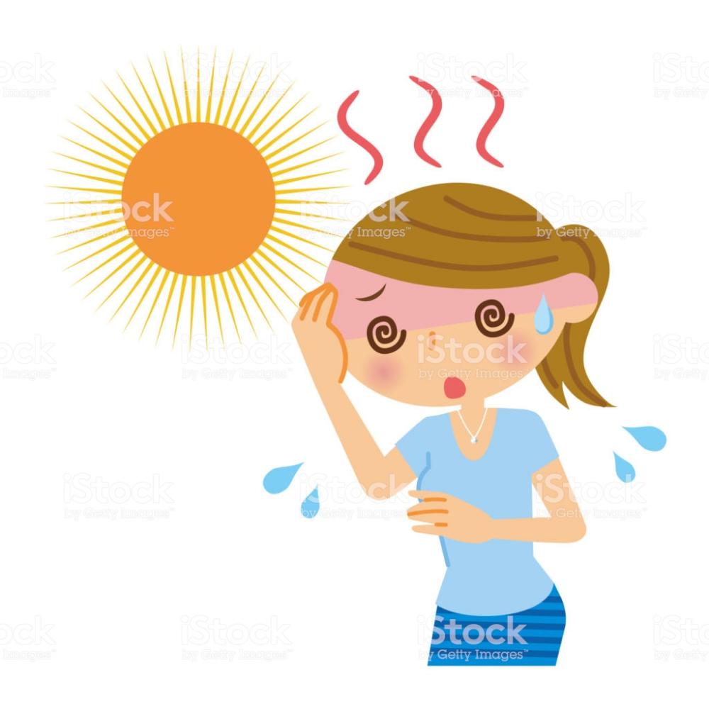 Una Mujer Con El Golpe De Calor Arte Vectorial De Calor Libre De Derechos Golpe De Calor Imagen De Alta Resolucion Vector