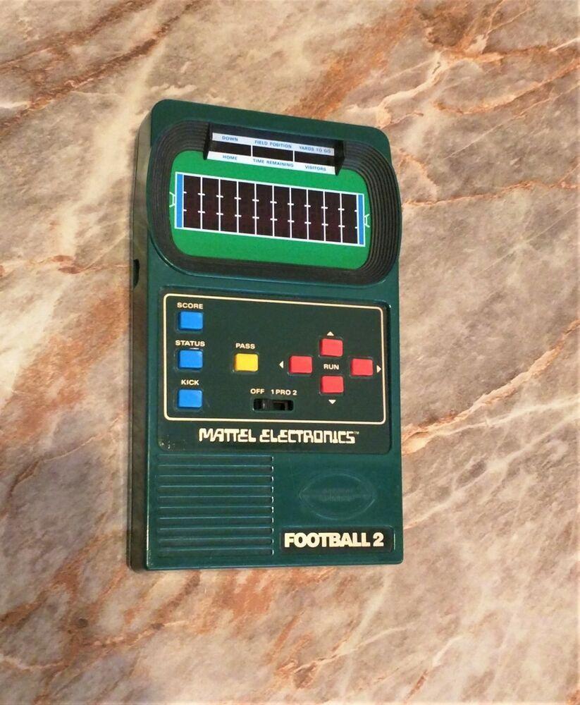 Mattel football ii 2 vtg 1978 handheld electronic arcade