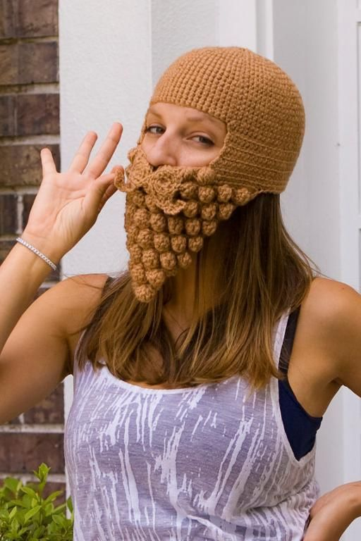 Beardling - Crochet Beard Hat