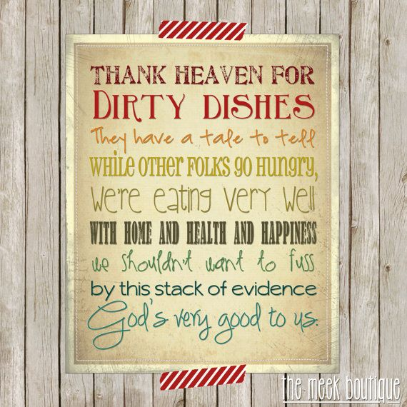 Kitchen Blessing Wall Decor: INSTANT Download, Kitchen Wall Art, Printable, No. 19