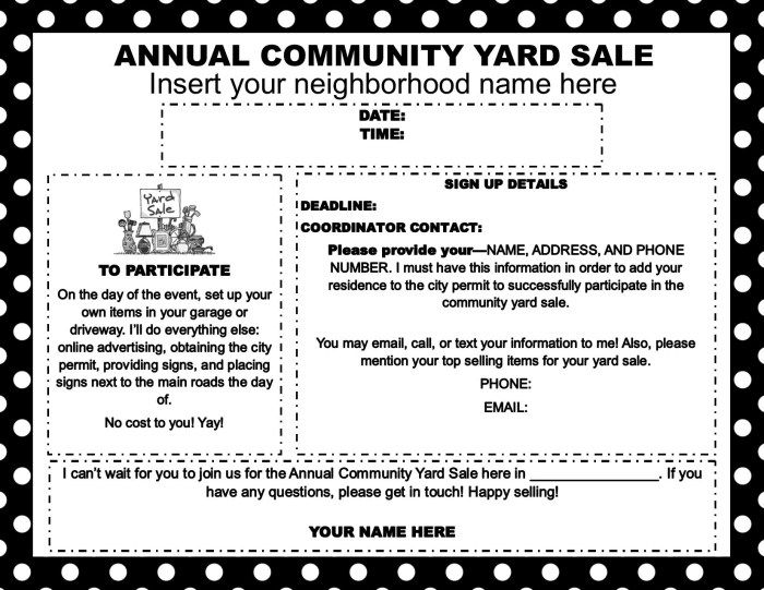 How to Host a Successful Community Yard Sale Yard sale