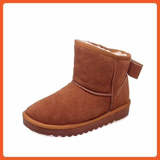 Women's Solid Low-Heels Round Closed Toe Imitated Suede Pull-On Snow-Boots