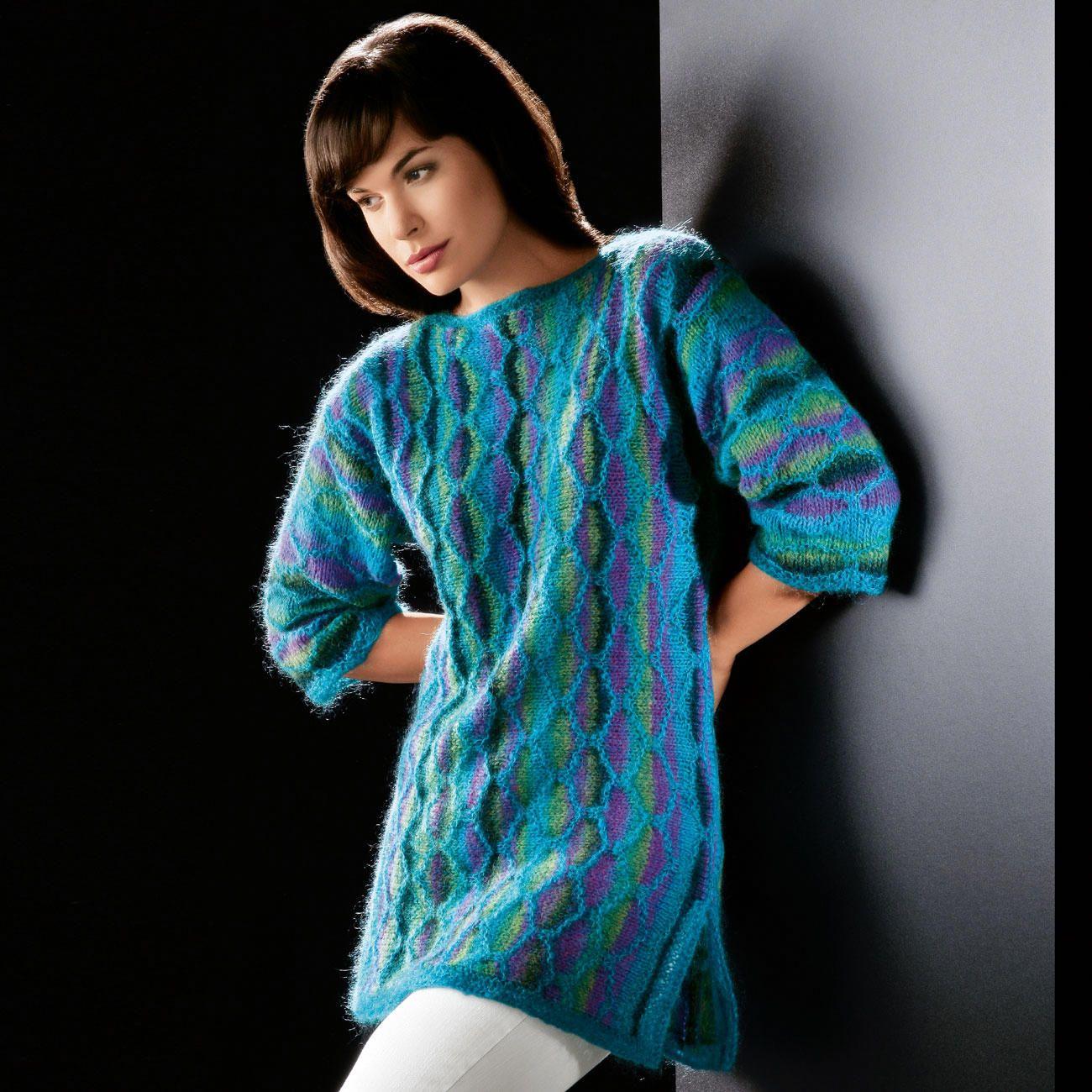Modell 1140 Long Pullover Aus Scala Und Fee Von Junghans Wolle