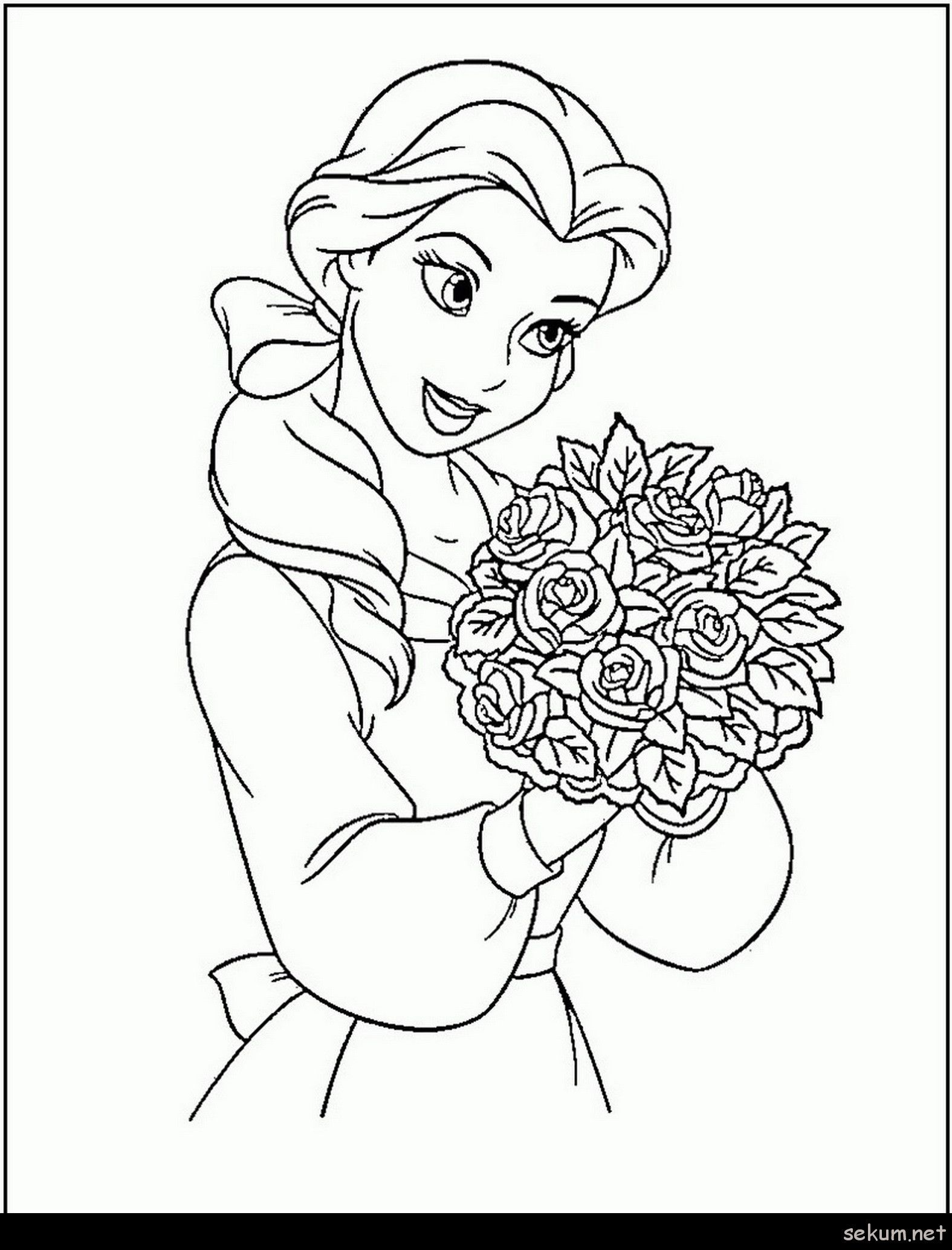 Pin On Princess Coloring Page