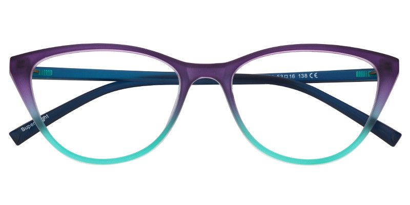 e0c4129ec74 Lucy Cat Eye Glasses FP0300-01 SKU  fp0300-01 - Purple Green