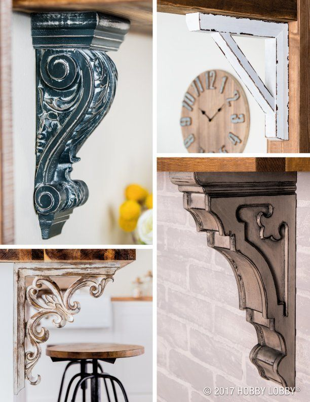Add Ornate Detail To Your Decor With Stylish And Versatile Corbels Add Them To Furniture Or Use Them As Wall Fix Home Decor Decor Diy Furniture Embellishments